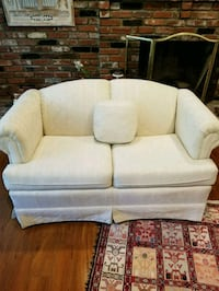white fabric 2-seat sofa Annandale, 22003