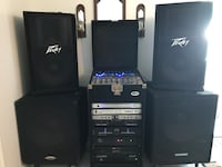 Black Peavey stereo component system