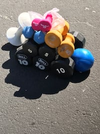 Assorted pair of dumbbells