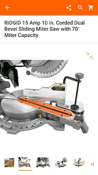 Great Deal on NEW Rigid Sliding Miter Saw