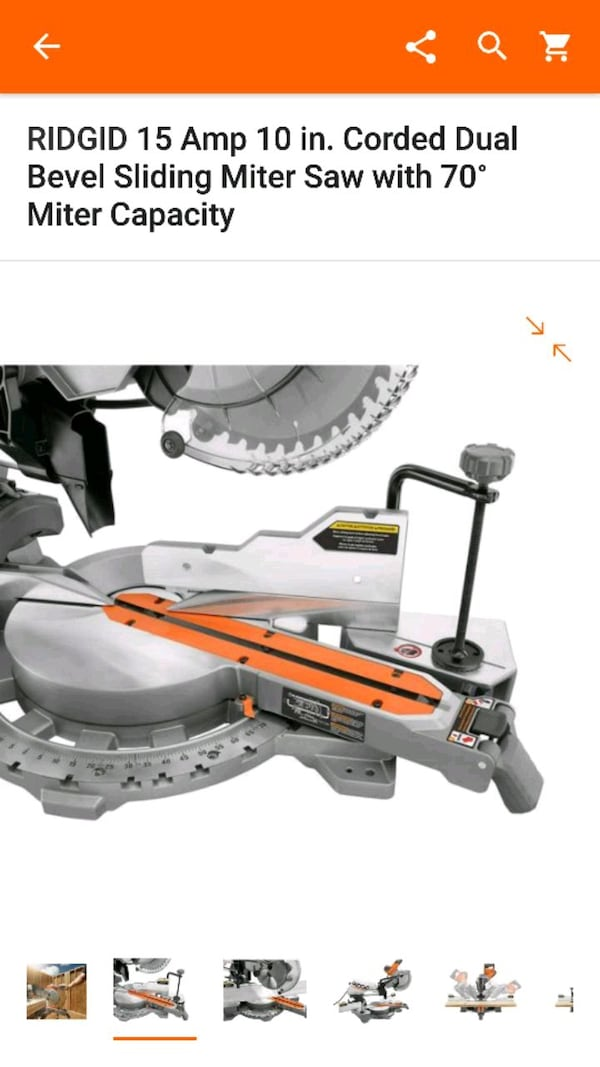 Great Deal on NEW Rigid Sliding Miter Saw 0