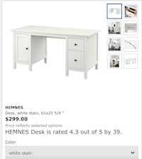 Hemnes large desk Maplewood, 07040