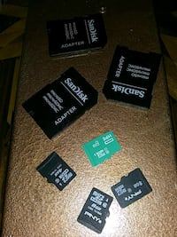 4 8gig SD cards with adapters Bedford, 24523