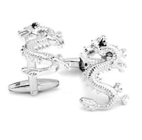 Silver Dragon French Cuff Links Jacksonville