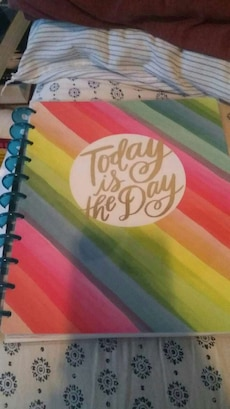 multi color Today is the day notebook