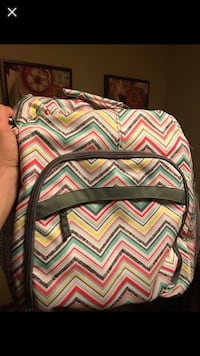 assorted color chevron print leather backpack screenshot