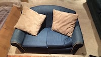 gray and blue fabric loveseat Vaughan, L4H