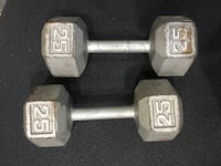 25s cast iron dumbbells Brampton, L6Z 4V9