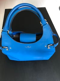 Authentic Blue and black leather 2-way bag Singapore