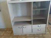 white wooden TV hutch with cabinet Phoenix, 85032