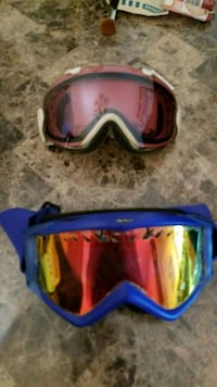 red and purple snow goggles Calgary, T2K 0V9