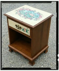 Vintage Solid Maple Night Stand/End Table