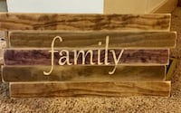 "Hand crafted, ""family"" wooden sign"