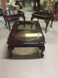 Antique Cherry Wood Coffee and Side Tables Ajax, L1Z 1A2