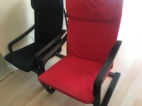 Black futon two comfy chairs and two tables In very good condition  Brampton, L6V 2S8