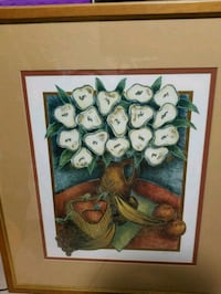white and green flowers painting Miami, 33169