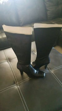 black leather knee high boots Bartow, 33830