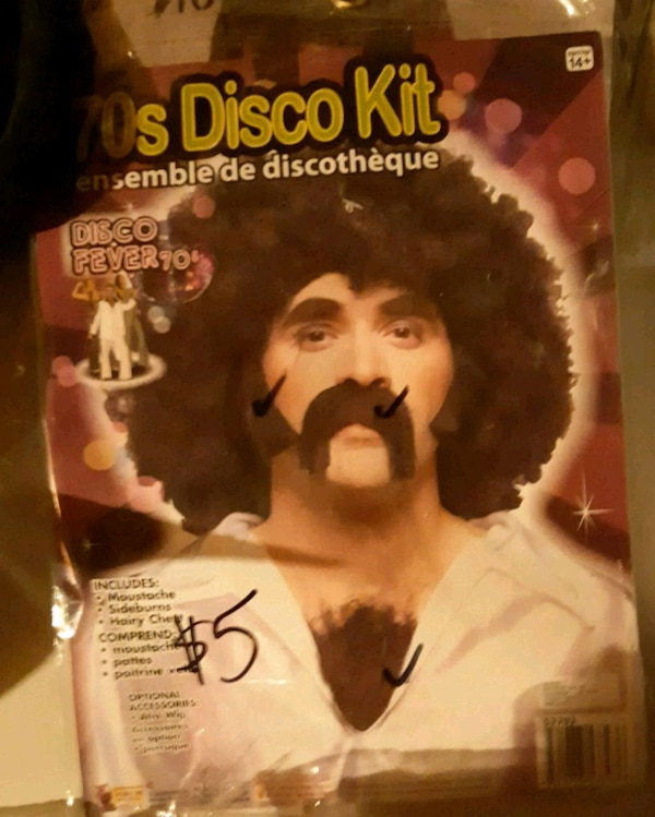 Wig and mustache
