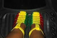 Rasta colour jelly sandals, they are unisex and I have different sizes available  Toronto, M3M 2G8