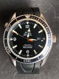 Omega Seamaster  [TL_HIDDEN]  Casino Royale!!! Swiss luxury timepiece. Extra set of hands included. Omega Seamaster Planet Ocean XL Co-Axial 2200.50 Automatic Watch. Pre-owned condition. Movement works perfect. Case and bezel has lite scratches. No box or p Alexandria, 22304