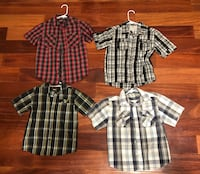Four Size 7 Boys Button-Up Shirts