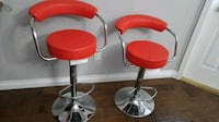 two red-and-gray bar stools Surrey, V3W 5J6