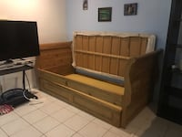 Italian wood twin trundle bed $700/OBO Los Angeles, 90066