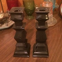 two brown ceramic candlesticks Springfield, 65806