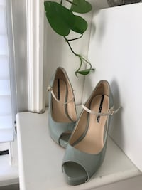 Green open toe high heels (prom ) Toronto, M2P 1P9