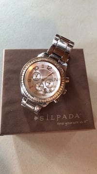 Silpada Stainless Steel Boyfriend Watch Union Bridge, 21791