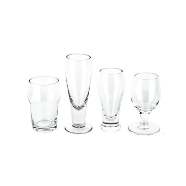 Craft Shot Glass Set of 4 Glasses Different Shapes