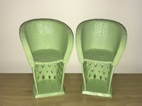 Barbie Green Wicker Style Chairs Fall River, 02720