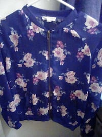 blue and white floral button-up shirt Amarillo