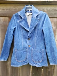 Vintage blue jean fitted jacket Pearl, 39208