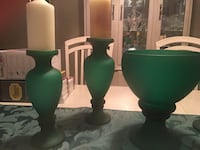 Beautiful bowl and 4 candle holders decor Brampton, L7A 2N5