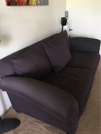 black fabric padded sofa chair Reston, 20190