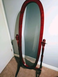 Beautiful wooden stand up mirror