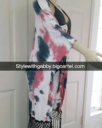 women's white and red floral sleeveless dress Palmdale, 93552