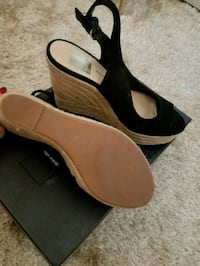 pair of black-and-brown wedge sandals Pleasant Hill, 94523