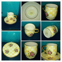 Tea cup and saucer.  Colton