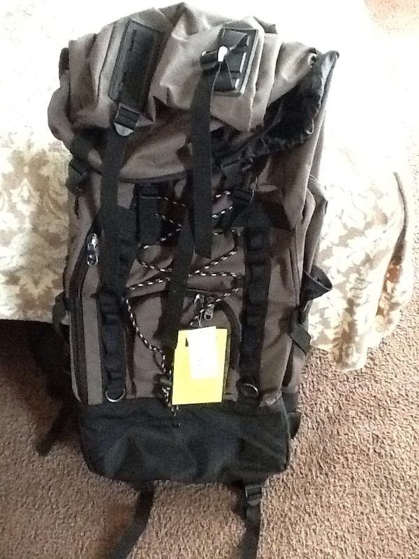 0bf4493499d5 Used gray and black camping backpack for sale in St. Helens - letgo