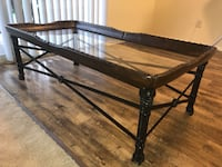 Leather/wrought iron coffee table Catonsville