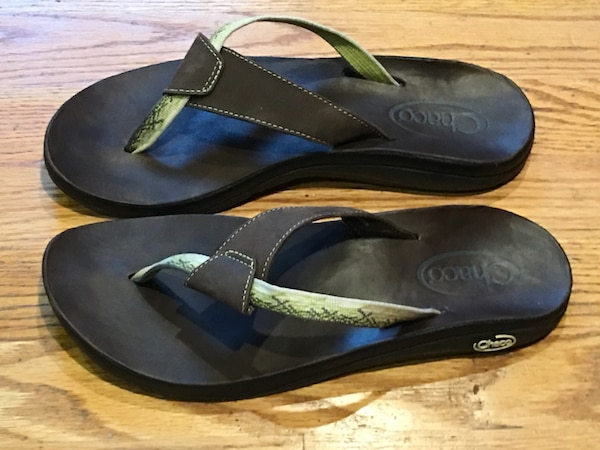 cf6cb2f8b262 Used CHACO LADIES SWITCH FLIPSIDE FLIP FLOPS THONGS SLIP ON ECOTREAD SANDALS  SIZE 10 for sale in Puyallup