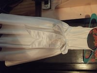 WHITE SATIN GIRLS SPECIAL OCCASION DRESS SIZE 3 .     ASKING $20.00  Hagerstown