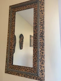Cheetah print mirrors