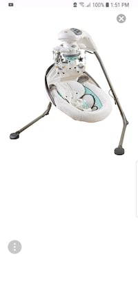 baby's white and gray cradle n swing Edmonton, T6L 1P3