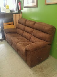 brown leather 3-seat sofa 719 km