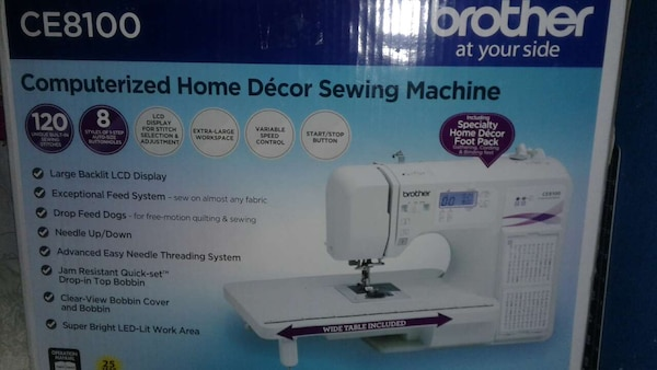 Used Brother CE40 Computerized Sewing Machine For Sale In New Brother Ce8100 Sewing Machine