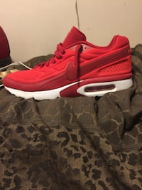 pair of red Nike Air Max shoes Hitchcock, 77563