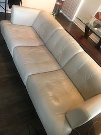 Off white leather sofa... purchased from Macy's in 2013 Columbia, 21044